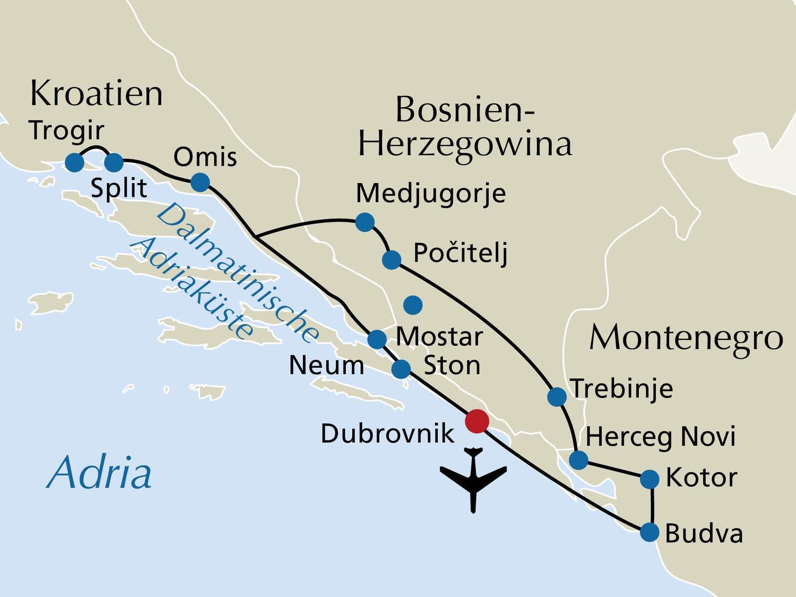 Kroatien Montenegro 15 Tage Rsd Reisen De