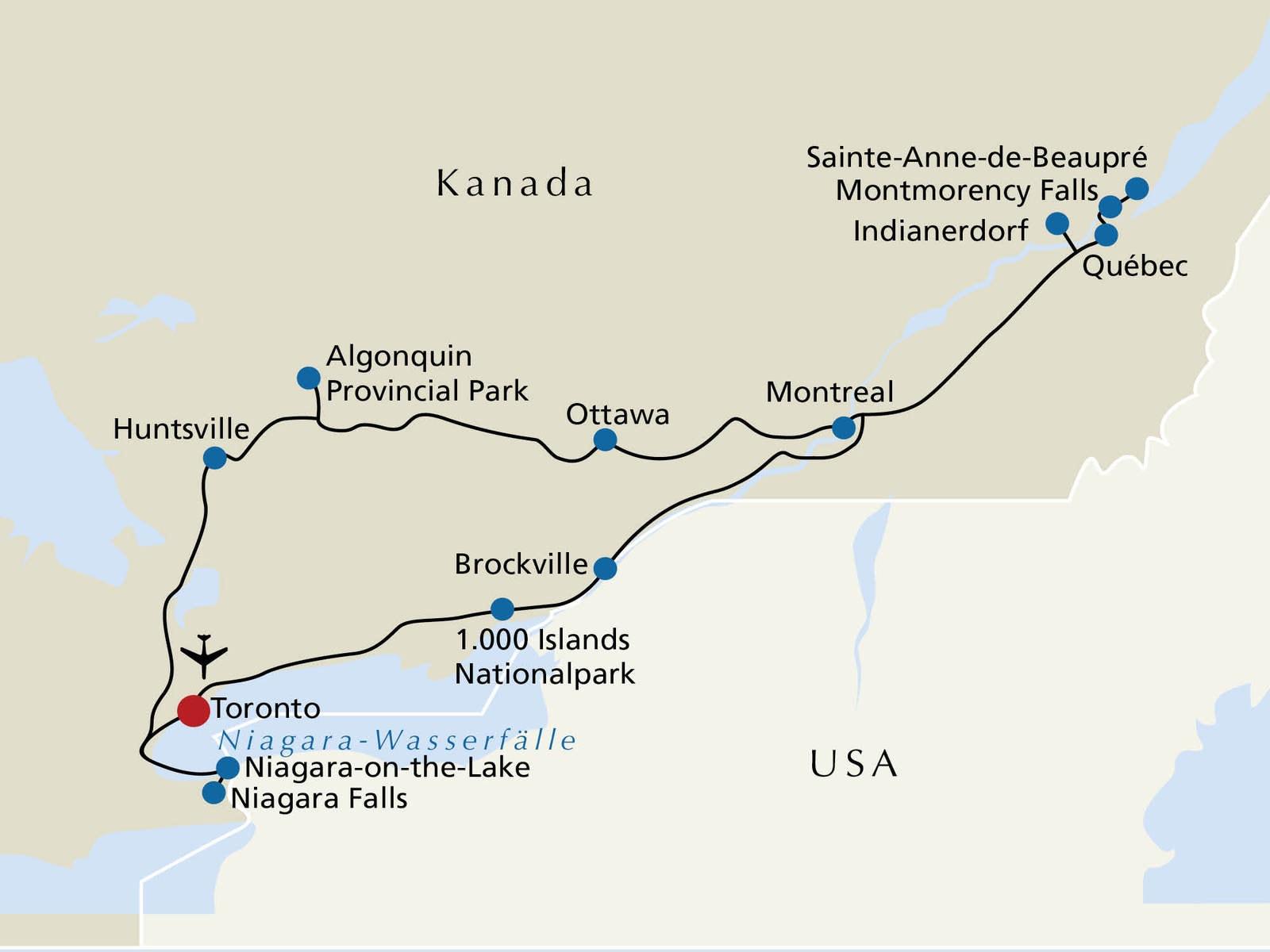 Montreal Altstadt Karte.Kanada Rsd Reisen At